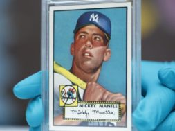 Mickey Mantle Topps card AP