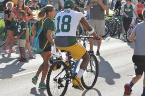 Packers Cobb bike training camp Hosch