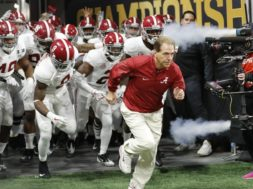 Alabama Nick Saban tunnel AP