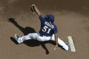 Brewers Freddy Peralta above AP