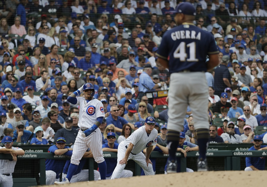 Rizzo goes deep, as Cubs get to Brewers early and often
