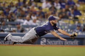 Brewers Mike Moustakas AP