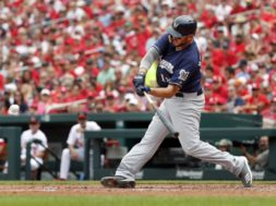 Brewers Mike Moustakas swings AP
