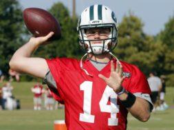 Jets Sam Darnold practice AP
