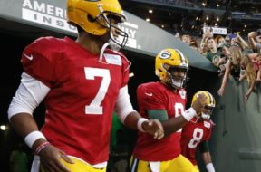 Packers quarterbacks Hundley Kizer AP