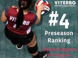 Viterbo Volleyball preseason 4 ranking
