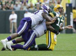 Aaron Rodgers tackled Week 2 Vikings AP