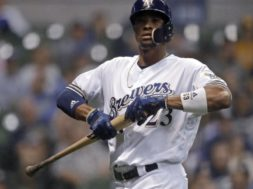 Brewers Keon Broxton bat AP