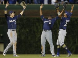 Brewers OF celebrates AP