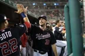 Max Scherzer high five AP