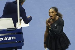 Serena Williams yelling AP