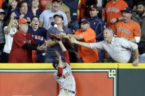 Astros Red Sox fan interference AP