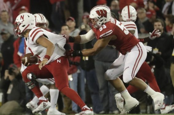 Badgers TJ Edwards sack Nebraska Martinez AP