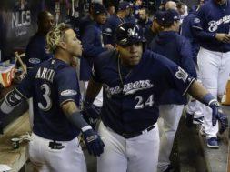 NLCS Dodgers Brewers Baseball
