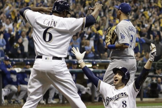 Brewers Braun Cain Game 6 AP