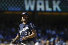 Brewers beard Wade Miley AP