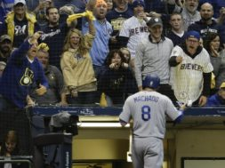 Brewers fans Machado Game 6 AP