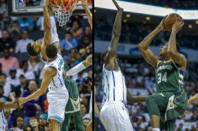 Bucks Giannis Hornets montage AP