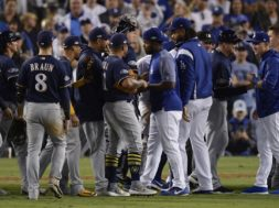 NLCS Brewers Dodgers Baseball