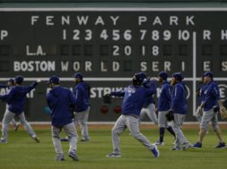 Dodgers practice World Series