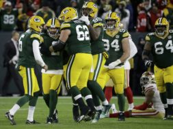 Mason Crosby celebrates SF AP