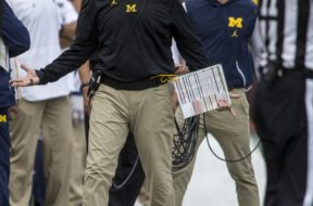 Michigan coach Jim Harbaugh AP