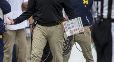 Michigan coach Jim Harbaugh AP