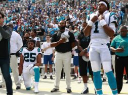 Panthers Eric Reid kneeling Anthem AP