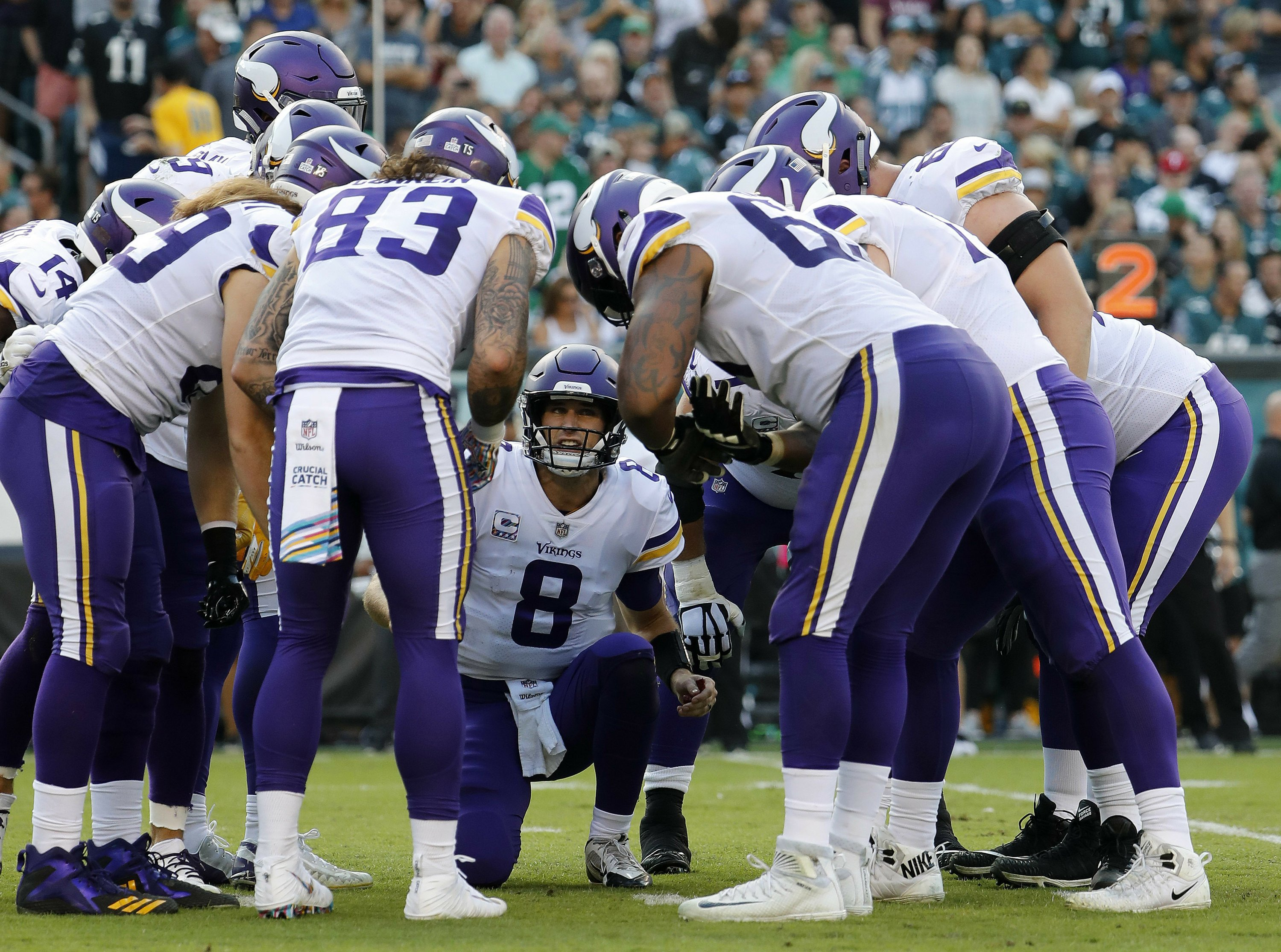 With 'innate' accuracy, Cousins delivering for Vikings
