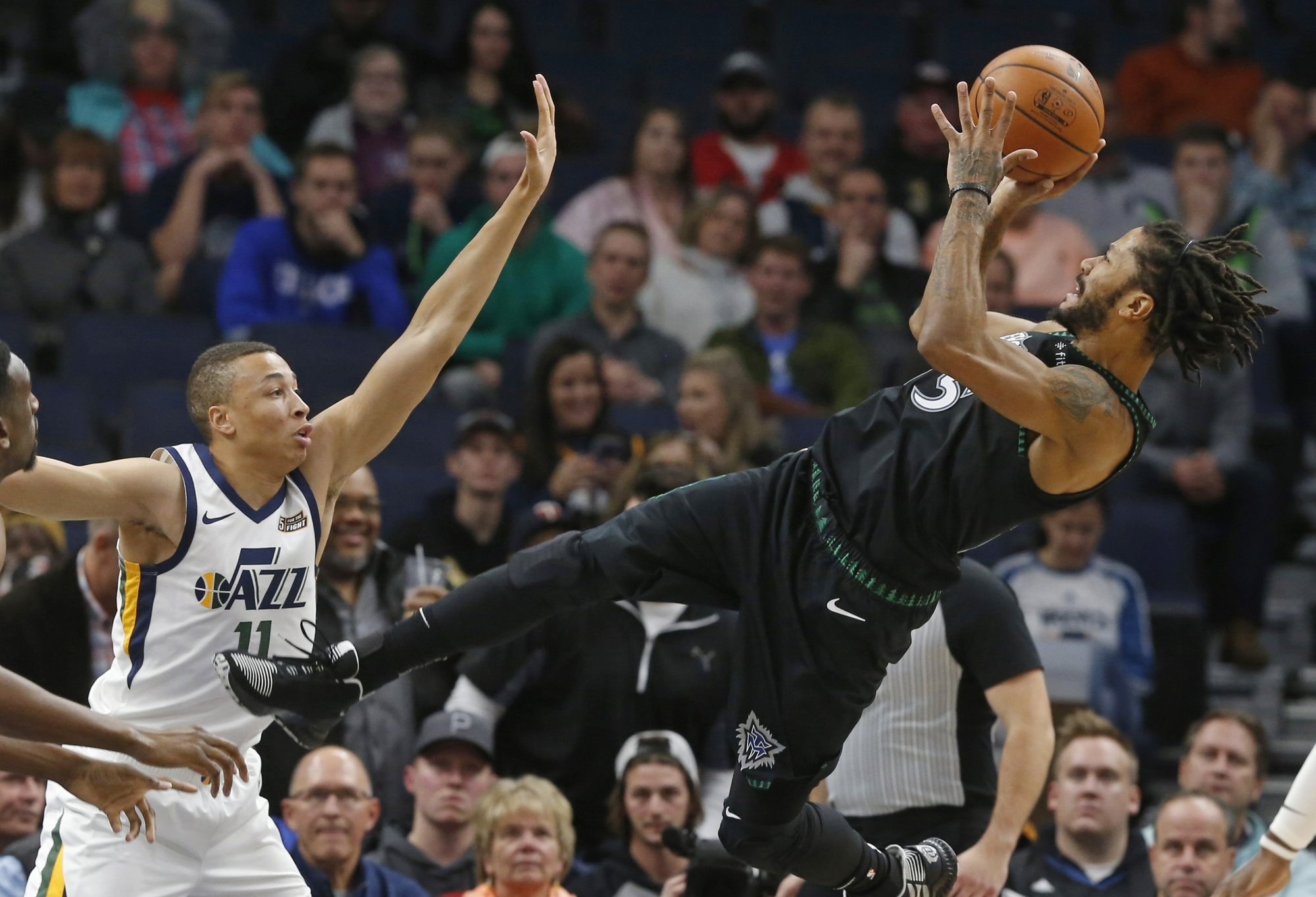 Rose scores career-high 50 as Timberwolves top Jazz 128-125