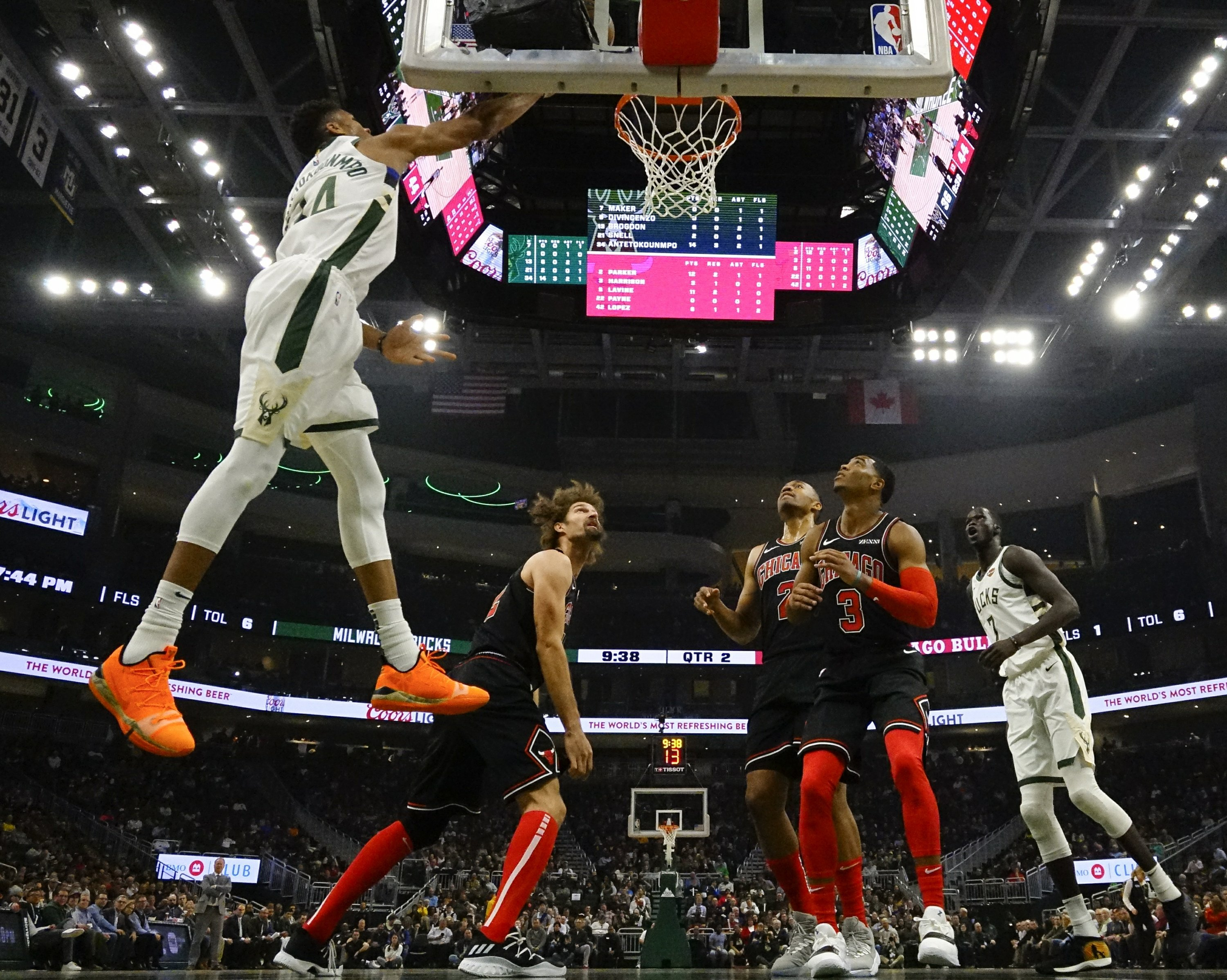Season-high scoring for Antetokounmpo helps hold off Bulls