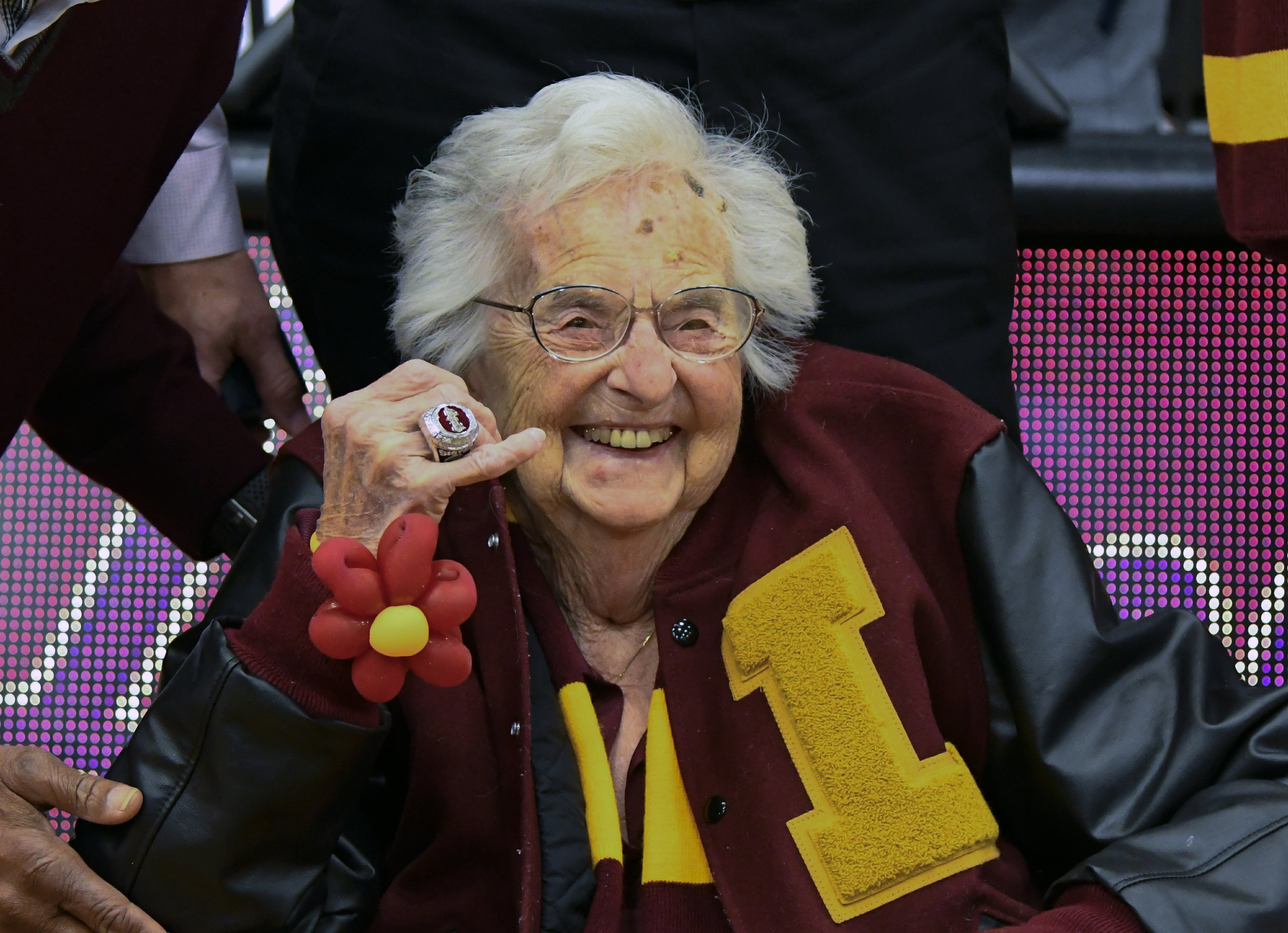 Loyola presents Final Four ring to Sister Jean