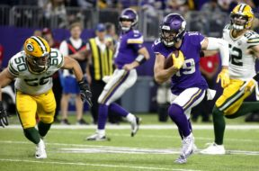 Vikings Adam Thielen Packers Martinez AP