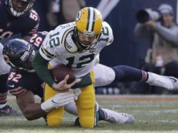 Bears Kahlil Mack sacks Packers Rodgers AP