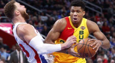 Bucks Giannis Pistons Griffin AP
