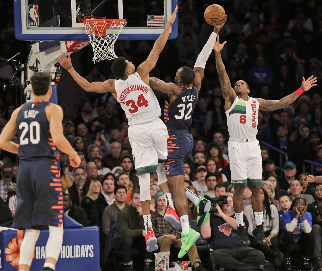 Antetokounmpo powers Bucks past Knicks in Christmas debut