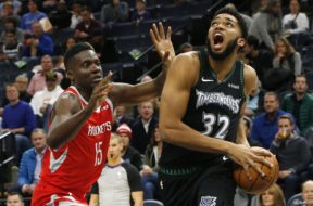 Minnestoa Karl Anthony Towns Capela AP