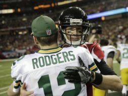 Packers Rodgers Atlanta Ryan hug AP
