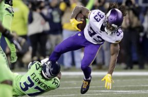 Vikings Dalvin Cook tackle Seattle AP