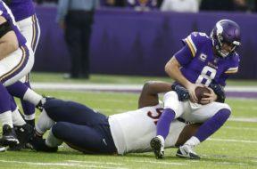 Vikings sack Kirk Cousins Bears AP