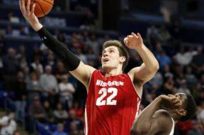 Badgers Ethan Happ layup Penn State AP