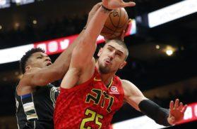 Bucks Giannis Hawks Alex Len AP