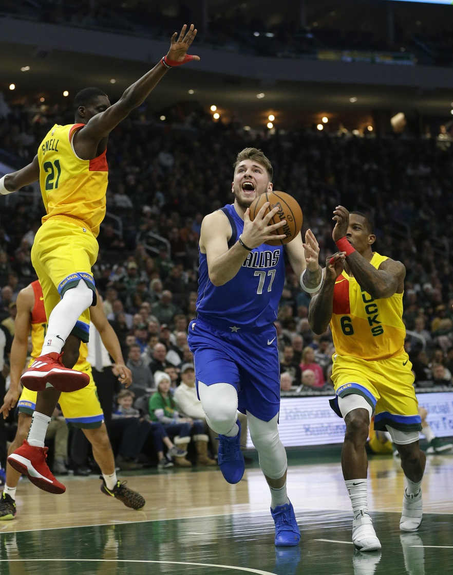 Doncic won't play against Bucks, who are looking for No. 19 in a row
