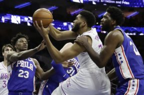 Sixers Butler Embiid Wolves Towns AP