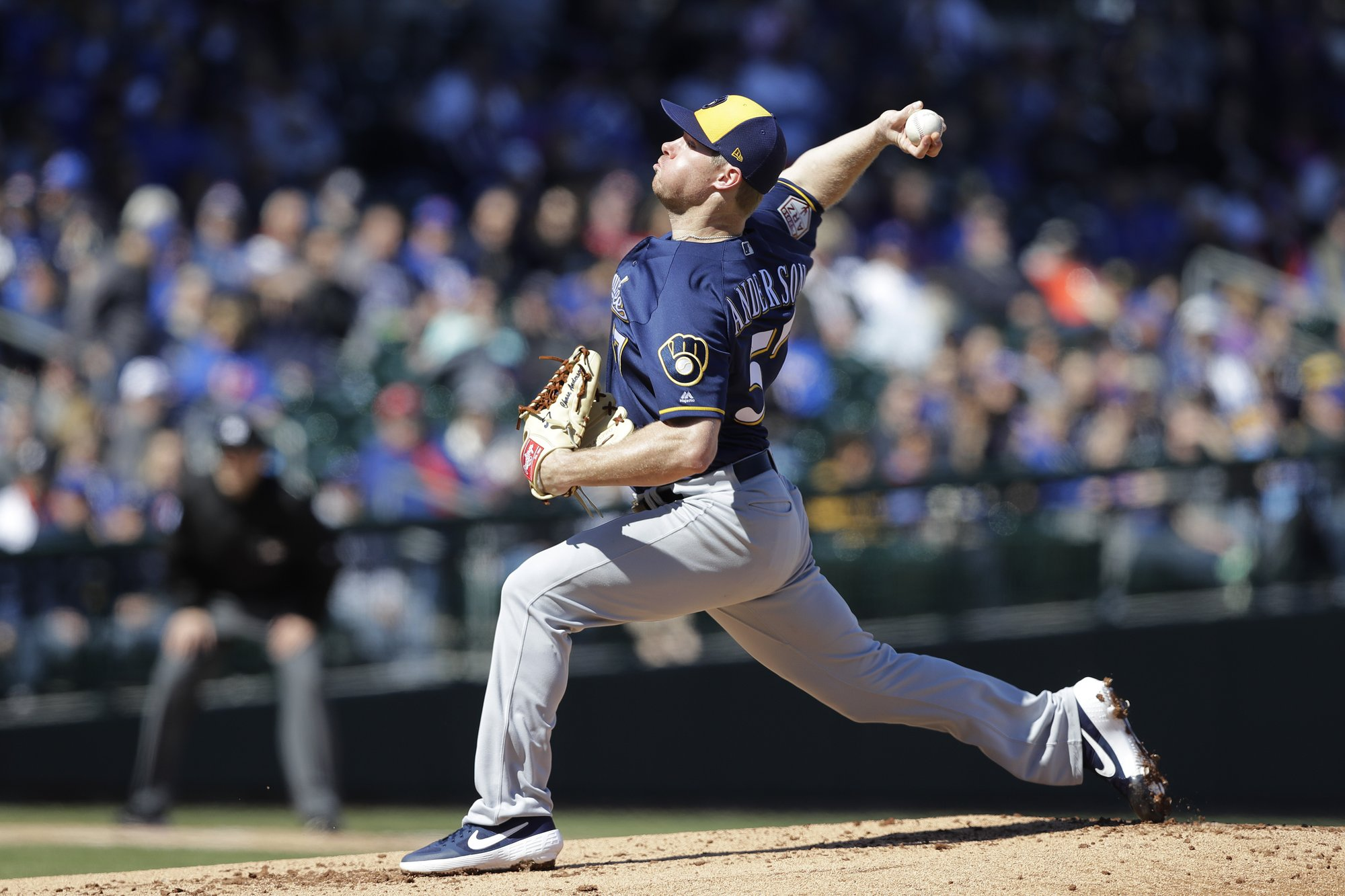 Anderson takes mound, as Brewers home three-game series against Marlins at Miller Park