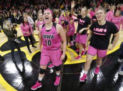 Iowa Megan Gustafson pink AP