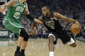 Khris Middleton v Celtics AP