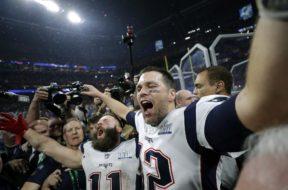 Patriots Tom Brady Julian Edelman Super Bowl win AP