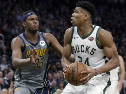 Bucks Giannis Pacers Turner AP