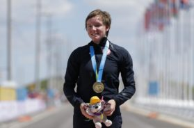 Cyclist Kelly Catlin AP